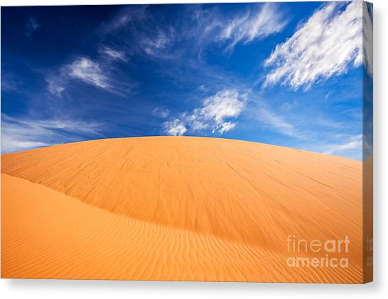 Canvas Print featuring the photograph Coral Pink Sand Dunes State Park, Kanab, Utah by Bryan Mullennix