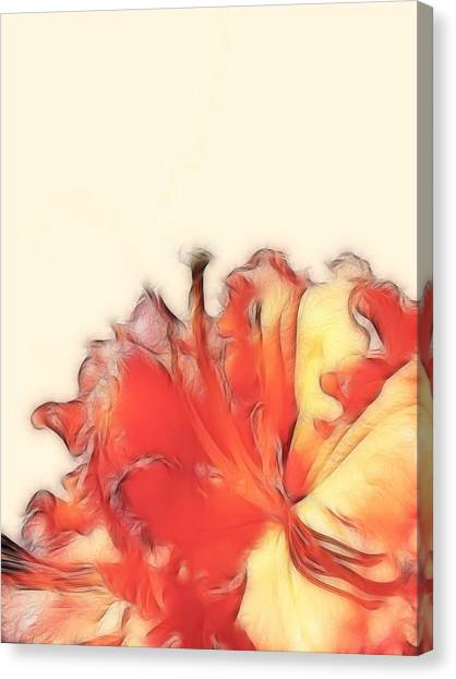 Coral Rhododendron Canvas Print