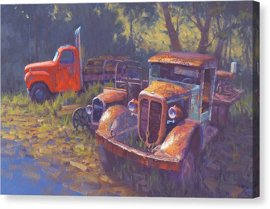 Rusty Truck Canvas Print - Corbitt And Friends by Cody DeLong