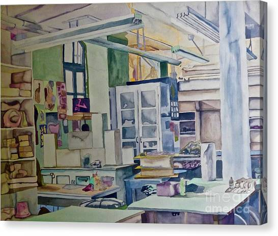 Corcoran School Of Art Ceramic Studio Back In The Days Canvas Print