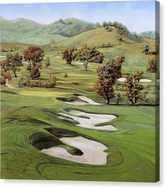 Golf Canvas Print - Cordevalle Golf Course by Guido Borelli