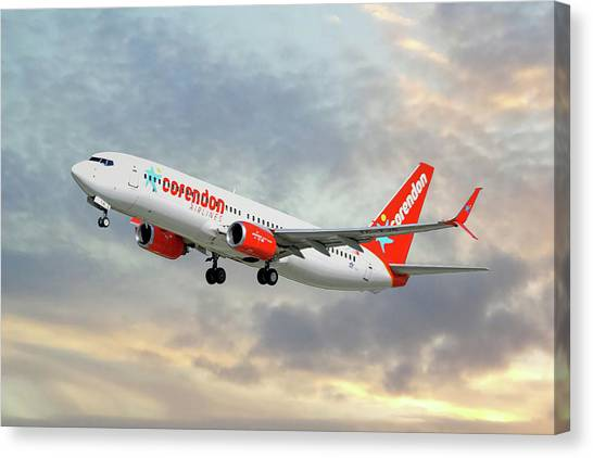 Airlines Canvas Print - Corendon Airlines Boeing 737-81b by Smart Aviation