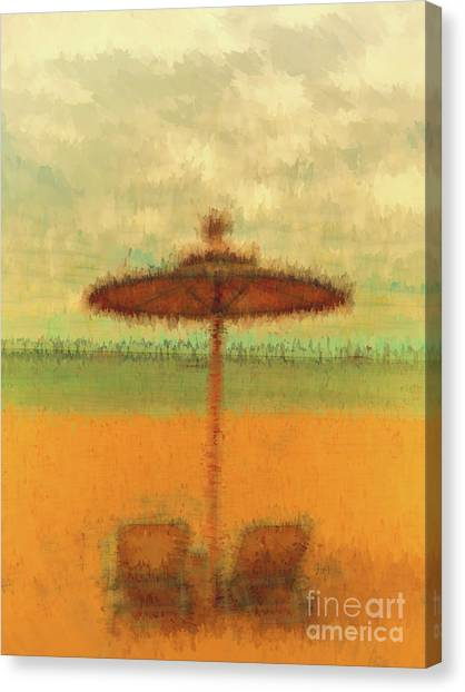 Canvas Print featuring the photograph Corfu 18 - Mirage by Leigh Kemp