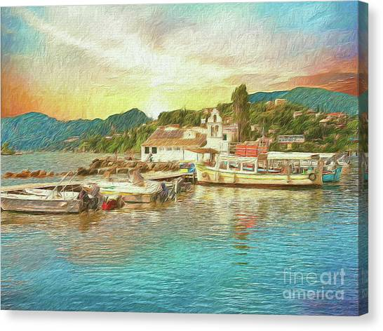 Canvas Print featuring the photograph Corfu 30 My Passion Paintography by Leigh Kemp