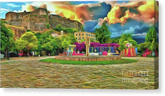 Canvas Print featuring the photograph Corfu 32 - Near The Fortress by Leigh Kemp