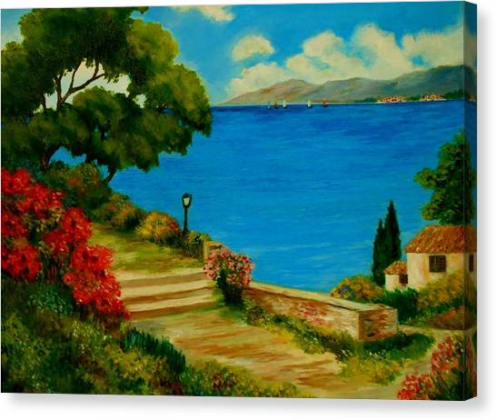 Corfu-greece Canvas Print