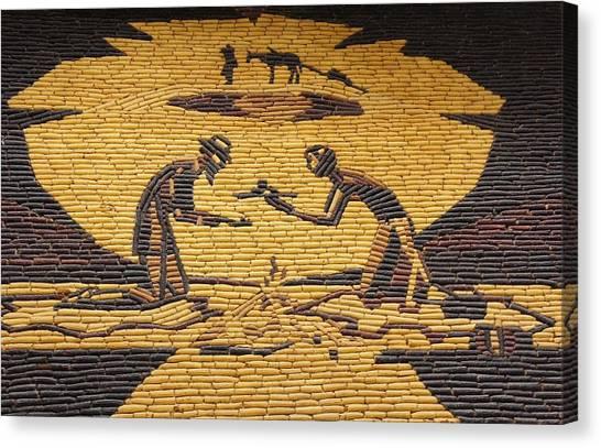 Indian Corn Canvas Print - Corn Art At Corn Palace 07 by Art Spectrum