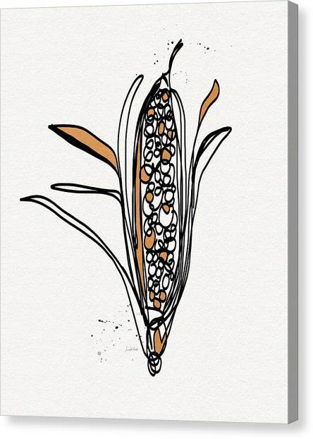 Thanksgiving Canvas Print - corn- contemporary art by Linda Woods by Linda Woods