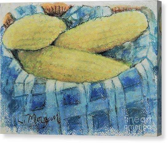 Corn In A Basket Canvas Print