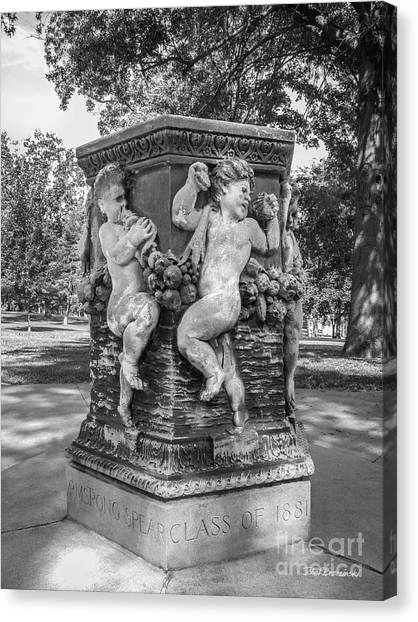 Cornell University Canvas Print - Cornell College The Old Fountain by University Icons