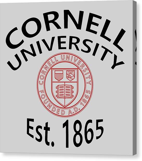 Cornell University Canvas Print - Cornell University Est 1865 by Movie Poster Prints