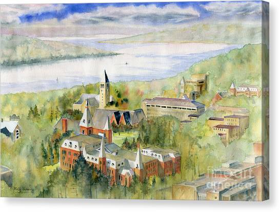 Ivy League Canvas Print - Cornell University by Melly Terpening
