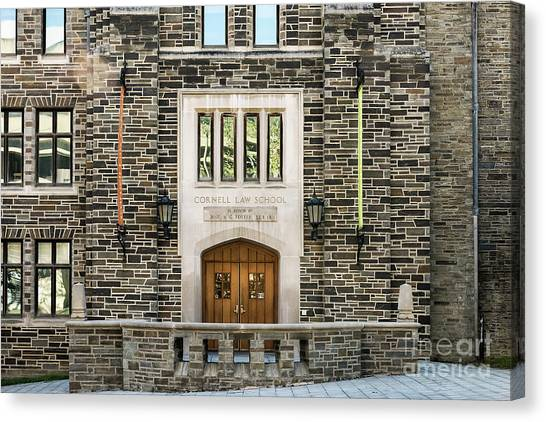 Cornell University Canvas Print - Cornell University School Of Law by John Greim