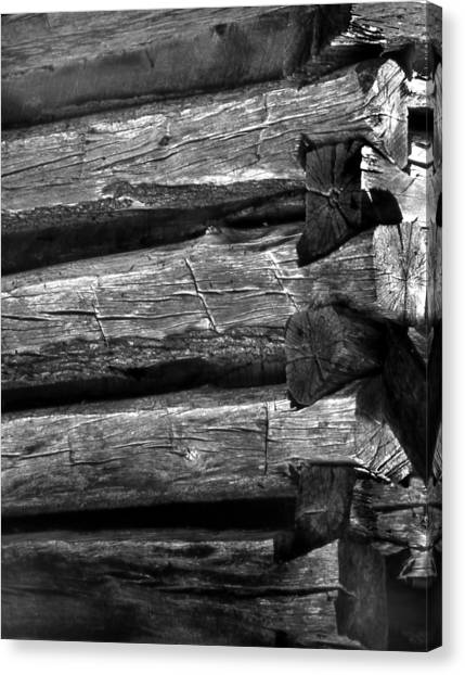 Corner-logs Canvas Print