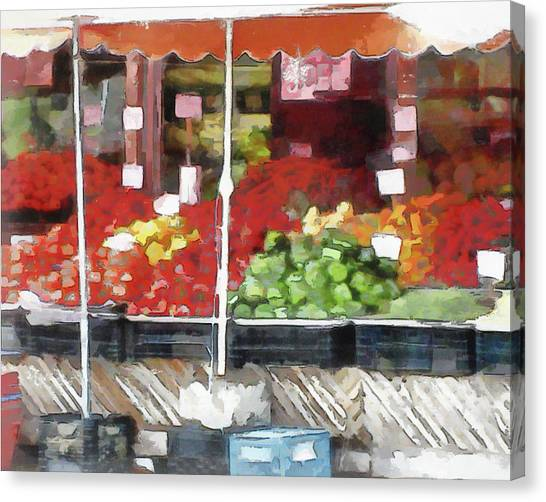 Corner Market Canvas Print