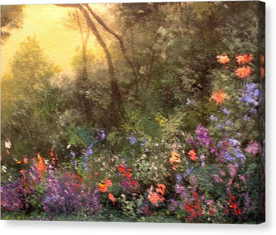Corner Of The Garden Canvas Print by Connie Tom