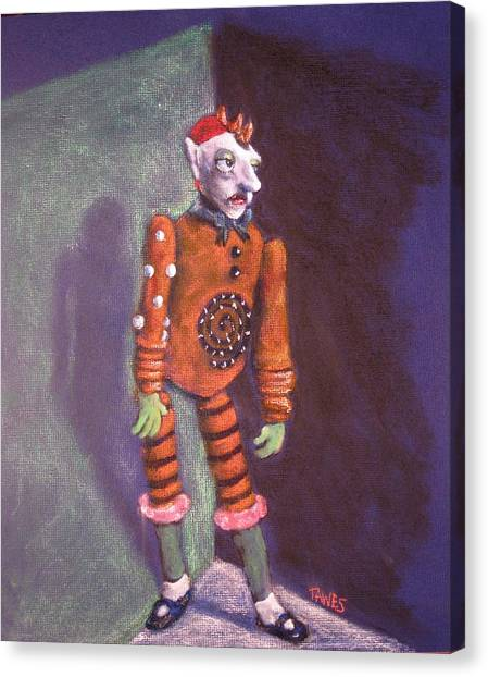 Cornered Marionette Strings Not Included Canvas Print