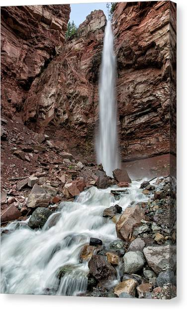 Canvas Print featuring the photograph Cornet Falls In Spring by Denise Bush