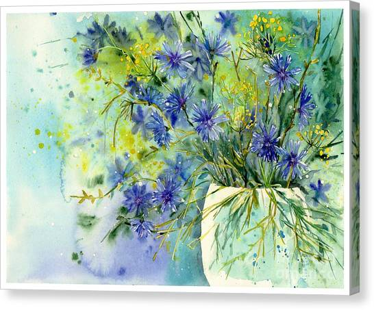 Ears Canvas Print - Cornflowers Symphony by Suzann's Art