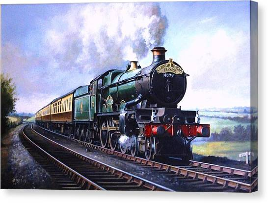 Trains Canvas Print - Cornish Riviera Express. by Mike Jeffries