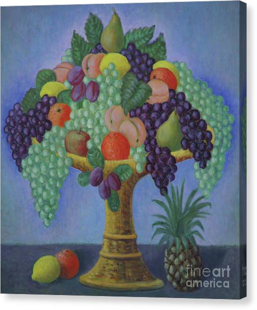 Fruit Baskets Canvas Print - Cornucopia by Ruth Addinall