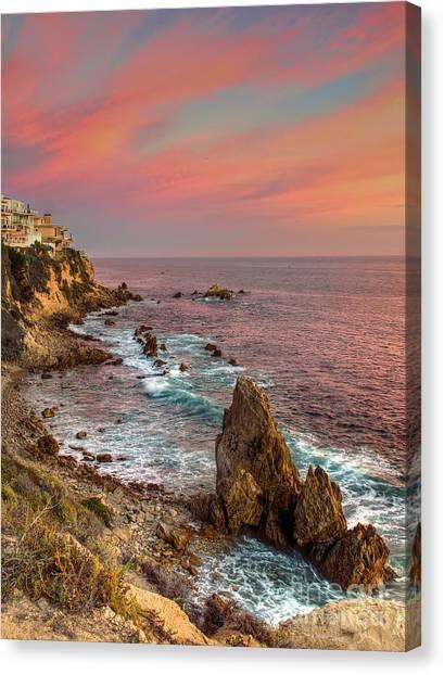 Corona Del Mar Coastline Canvas Print