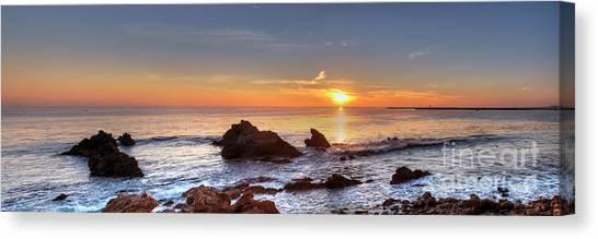 Corona Del Mar Sunset Panorama Canvas Print