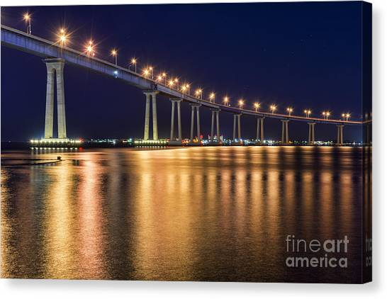 Coronado Bridge Canvas Print by Eddie Yerkish