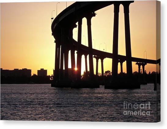 Coronado Bridge Sunset Canvas Print