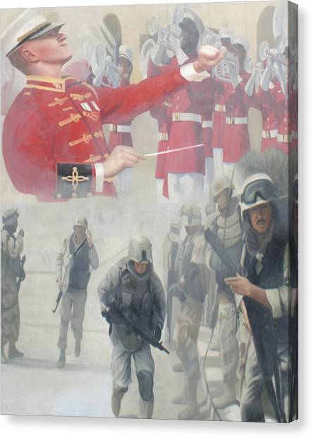 Todd Krasovetz Canvas Print - Corpsman Up by Todd Krasovetz