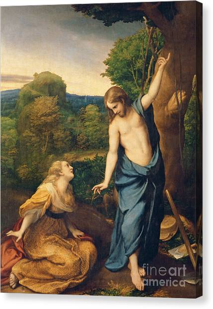 The Prado Canvas Print - Correggio by Noli Me Tangere