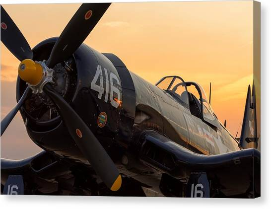 Corsair At Sunset Canvas Print