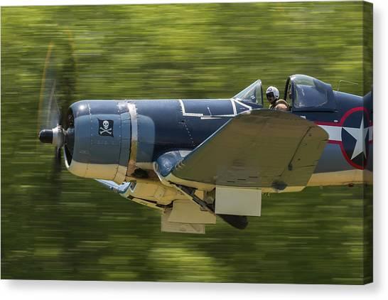 Corsair Close-up On Takeoff Canvas Print