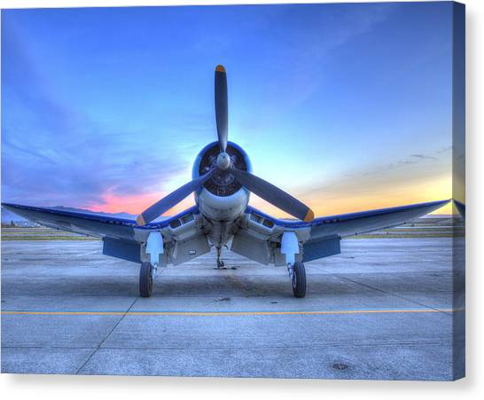 Corsair F4u At The Hollister Air Show Canvas Print