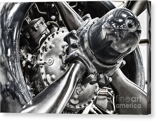 Corsair F4u Engine Canvas Print