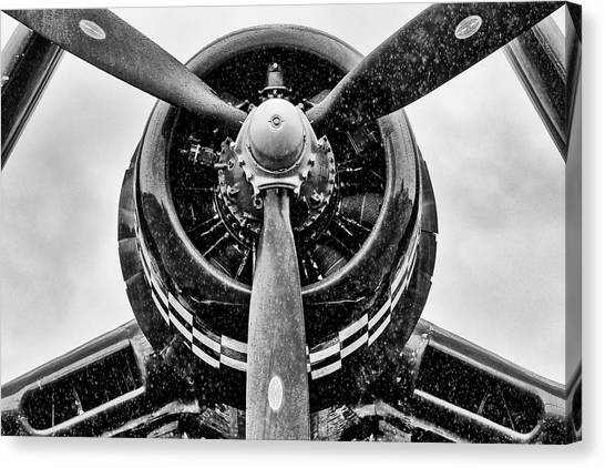 Corsair In Heavy Rain Canvas Print