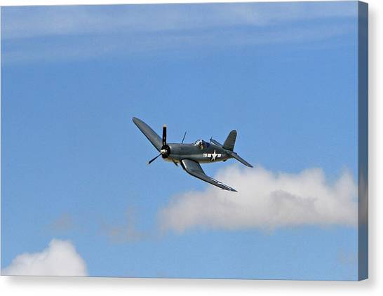 Wii Canvas Print - Corsair In The Clouds by Shoal Hollingsworth