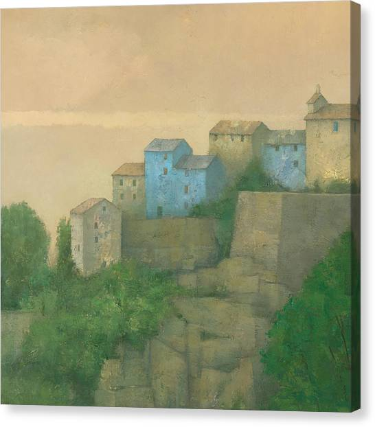 Corsican Hill Top Village Canvas Print