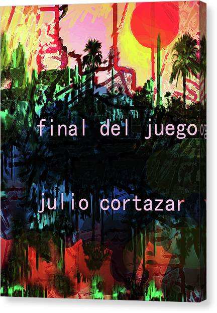 Imaginary Worlds Canvas Print - Cortazar Poster  by Paul Sutcliffe