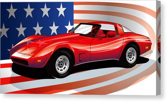 Corvette Canvas Print