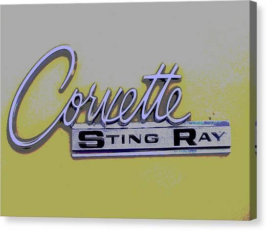 Canvas Print - Corvette Emblem by Audrey Venute
