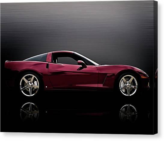 Chevy Canvas Print - Corvette Reflections by Douglas Pittman