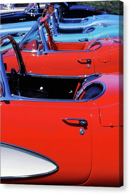 Canvas Print featuring the photograph Corvette Row by Samuel M Purvis III