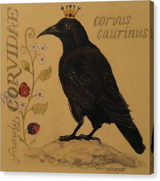 Corvus Caurinus Canvas Print by Victoria Heryet