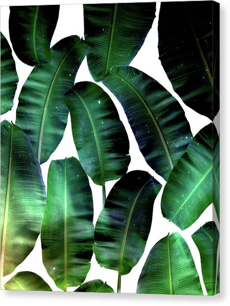 Bananas Canvas Print - Cosmic Banana Leaves by Uma Gokhale