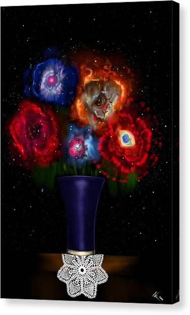 Cosmic Bouquet Canvas Print