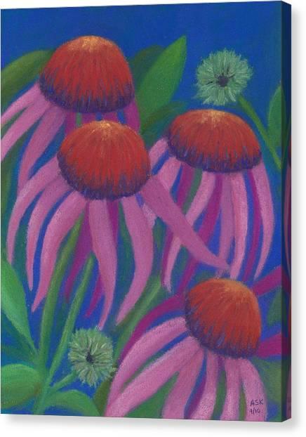 Cosmic Coneflowers Canvas Print