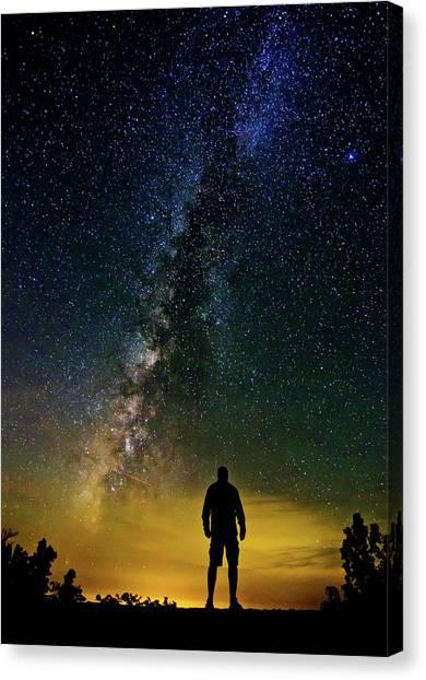Cosmic Contemplation Canvas Print