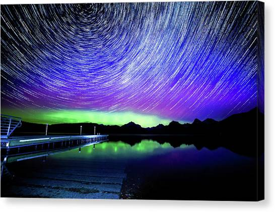 Cosmic-donald Solar Storm Canvas Print by Bryan Moore