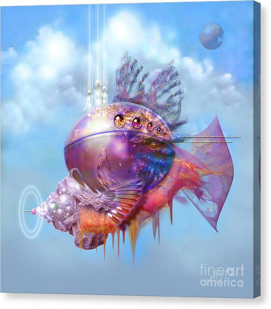Cosmic Fish Spaceship Canvas Print